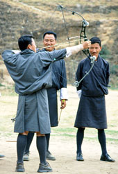 In Bhutan, the national sport is archery and you can visit this Himalayan Kingdom on The California Native Bhutan Tours